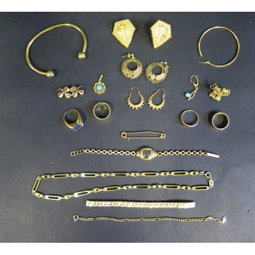 7 - A Selection of Gold Plated Jewellery