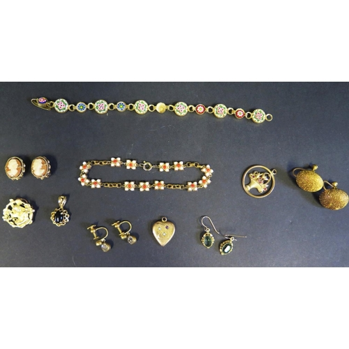 9 - A Selection of Costume Jewellery including earrings and pendants