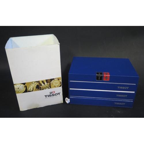 350 - A Tissot Gent's Watch Box with Quartz Chronographs G10 manual...