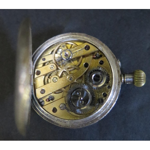 356 - A Ladies Silver Fob Watch, winds but running temperamentally...