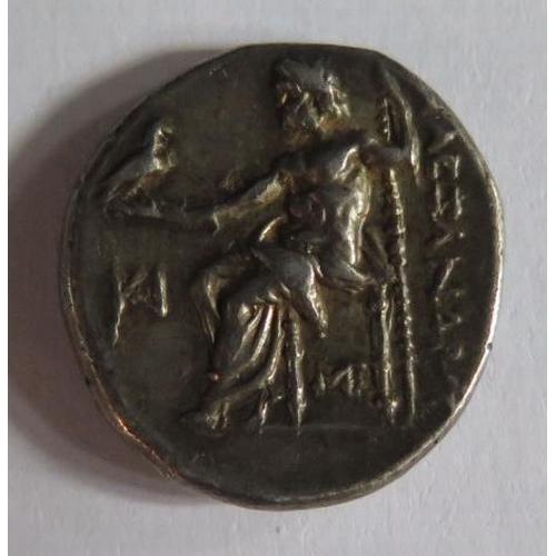 466 - A Macedonian Alexander III Silver Drachm, 18mm, 4.3g