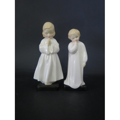 1308 - Two Royal Doulton Figurines _ Darling and Bed Time and Royal Albert Mr Jackson