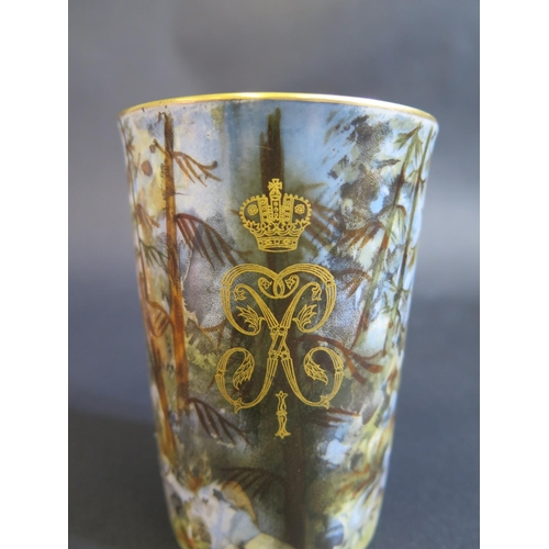 1218 - A Russian Porcelain Beaker Commemorating The Bicentennial of The Founding of St. Petersburg 1703-190...
