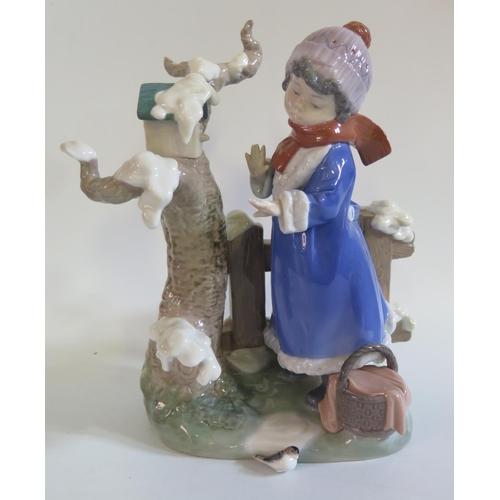 1245 - A Lladro Figurine of a Girl. A/F