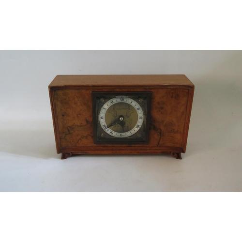 1259 - An Elliott for  Mappin & Webb Walnut Cased Mantle Clock, 24,5cm wide