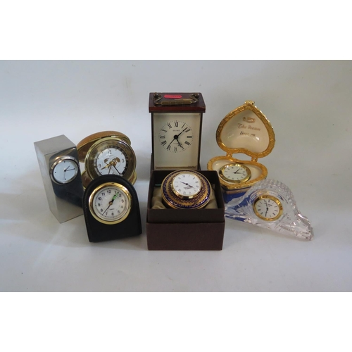 1260 - A Toye, Kenning & Spencer Enamel Desk Clock and others