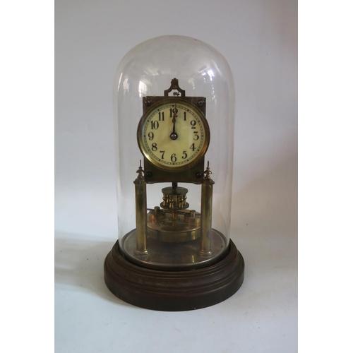 1268 - Gustav Becker Dome Clock, movement no. 2165299, 29cm high