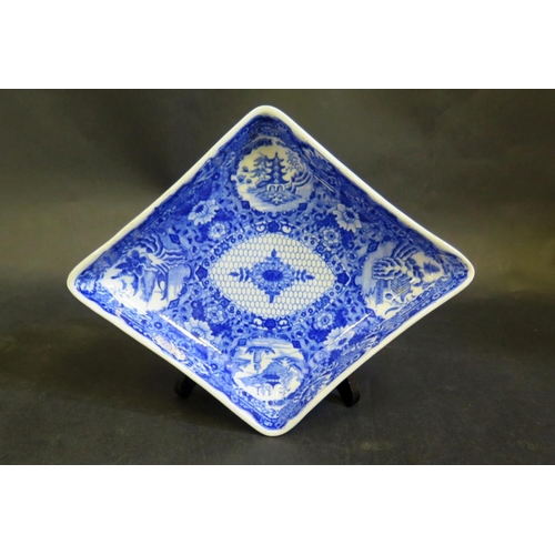 1304 - A Caughley Blue and White Porcelain Dish, 24x19mm