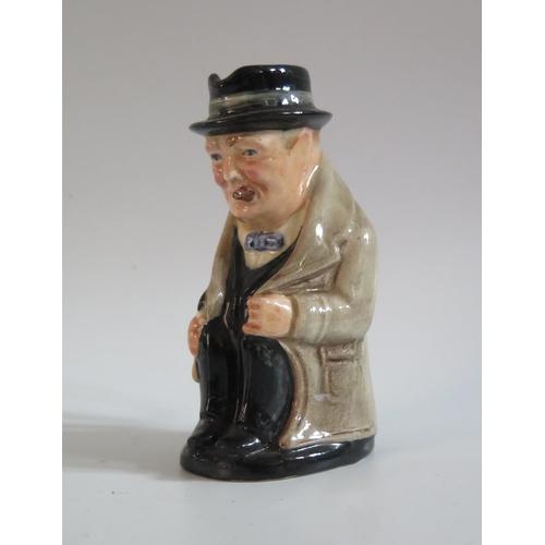 1309 - A Royal Doulton Miniature Winston Churchill Character Jug, 10cm
