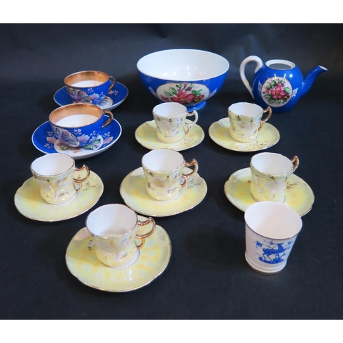 1312 - A Small Russian Gardner Factory Teapot (lid missing) and other tea and coffee ware