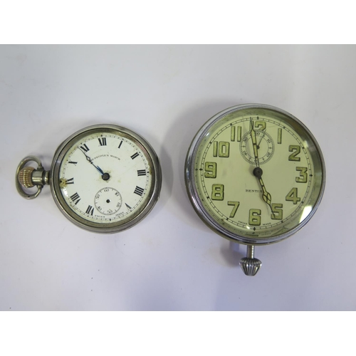 358 - A Silver Cased Pocket Watch A/F and Bentina watch (running)...