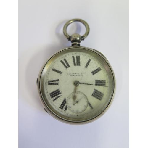 359 - A New York Standard Watch Co. Silver Cased Pocket Watch, London 1898. A/F...