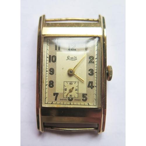374 - A Limit 9ct Gold Gent's Wristwatch, overwound...