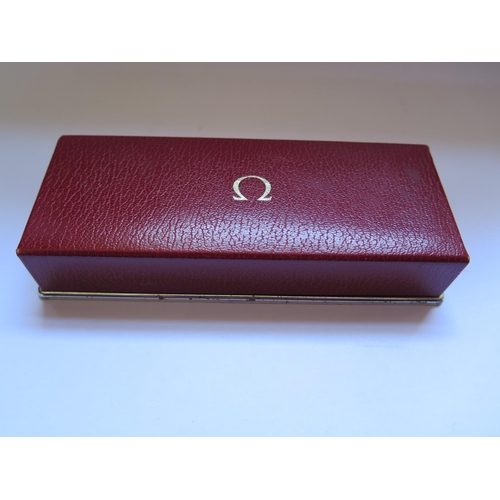 386 - An Omega Gent's Wristwatch in a gold or gold plated case, boxed and with papers dated 1973, movement...