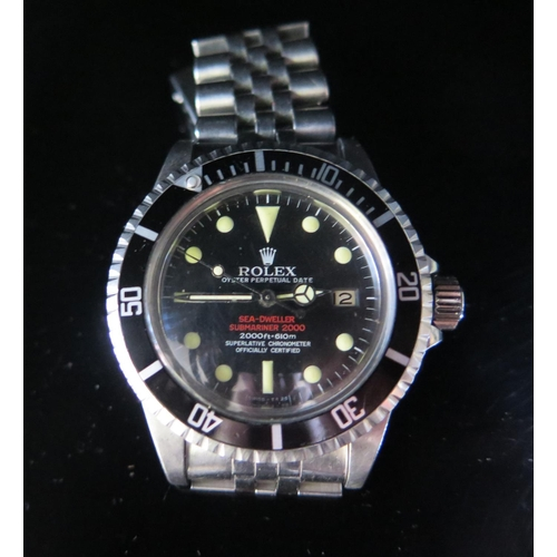 393 - A ROLEX Oyster  Sea Dweller Submariner Automatic Gent's Wristwatch, Ref: 1570 movement no. D815208, ...