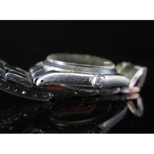 392 - A ROLEX Air King Explorer Automatic Wristwatch, Ref. 5500, 1530 movement no. 36103, bracelet no. 357...