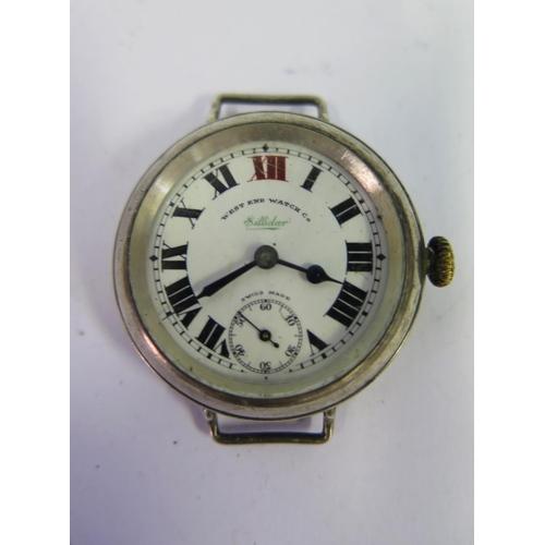 397 - A West End Watch Co. Sillidar Silver Cased Wristwatch, overwound