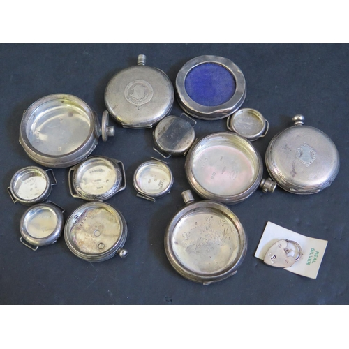 398 - A Collection of Silver Watch Cases etc.