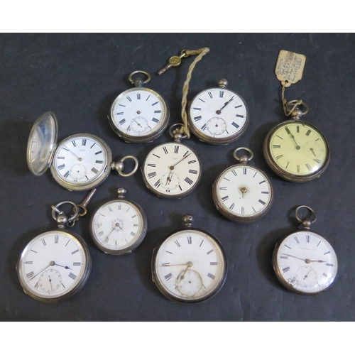400 - Ten Silver Cased Pocket / Fob Watches