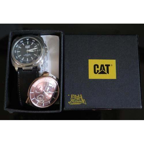 407 - A CAT Wristwatch and Skagen