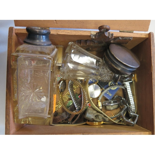 410 - A Selection of Watches including Sekonda, Limit, Cimier etc., Birmingham silver pot and other oddmen...