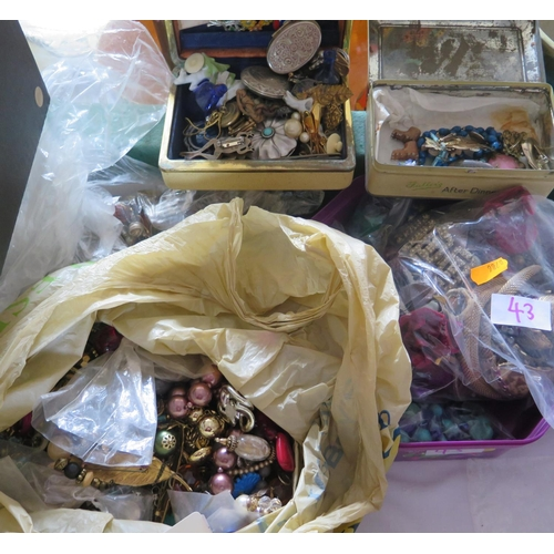 43 - A Large Selection of Costume Jewellery...