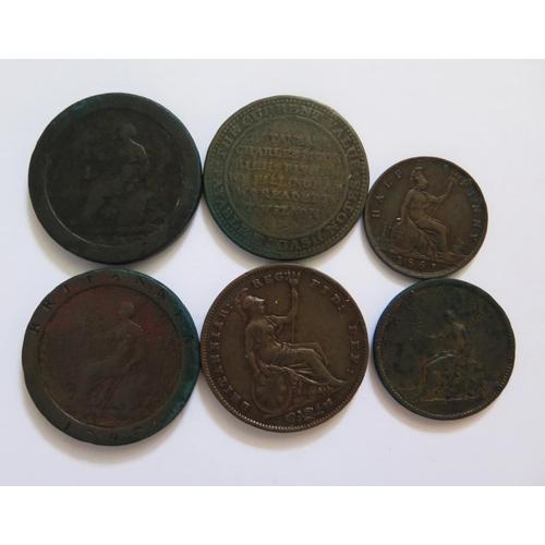 464 - An 1861 Half Penny, 1858 Penny, Cartwheel Pennies etc.