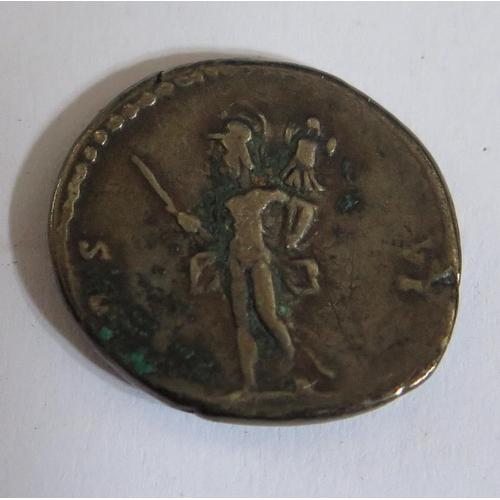 465 - A Roman Empire Emperor Vespasian Silver Denarius, 18mm, 3.5g
