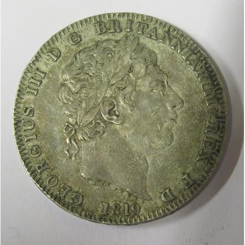470 - A George III Silver Crown 1819