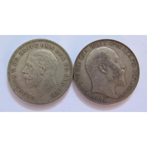 477 - Two Silver Crowns 1902 & 1935