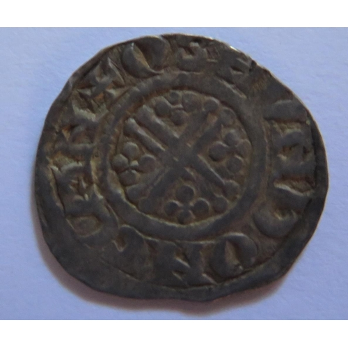 483 - A King John Hammered Silver Short Cross Penny