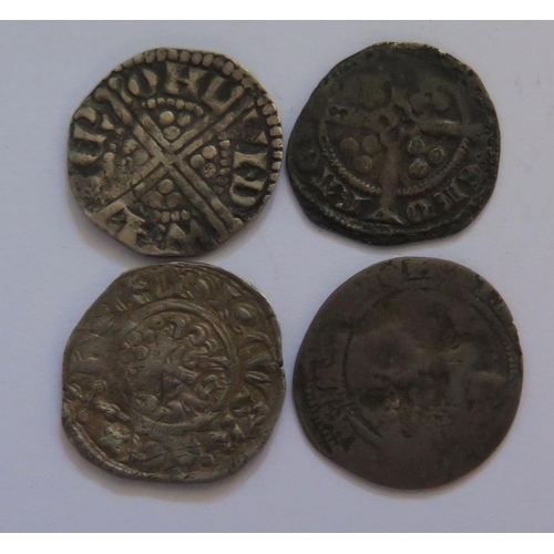 489 - Two Henry III Hammered Silver Pennies, Henry VIII London Mint Penny and one other