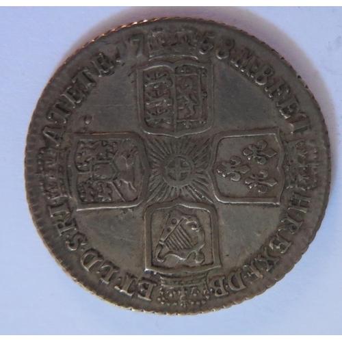 493 - A George II Silver 1758 Shilling