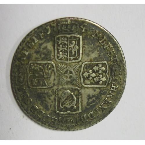 494 - A George II Silver 1746 Lima Sixpence
