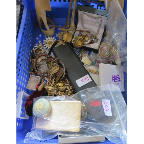 50A - A Selection of Costume Jewellery, bone animals etc....