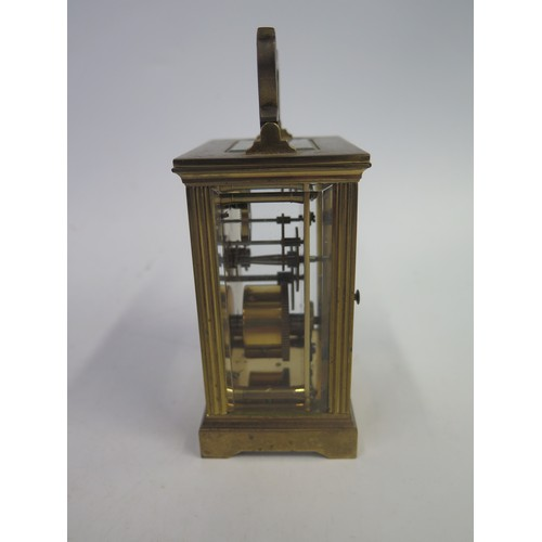 1261 - A Brass Carriage Clock, 15cm high
