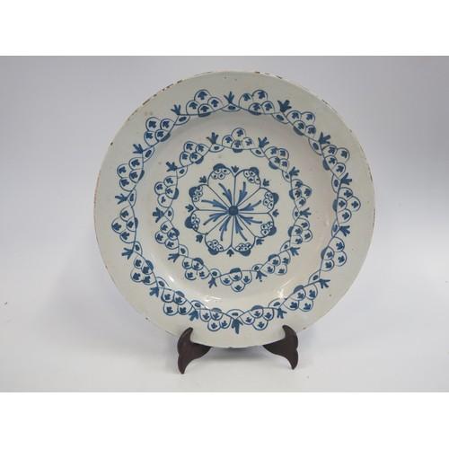 1235c - A 19th Century Delft Plate, 33cm diam.