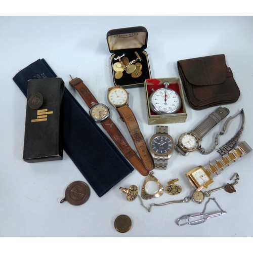 351 - A Tissot Tissonic Gent's Wristwatch and other watches etc. A/F...