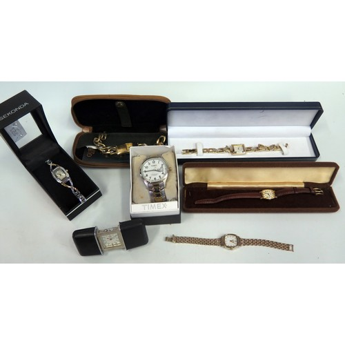 352 - A Selection of Wristwatches including Timex, Accurist, Sekonda etc. A/F...