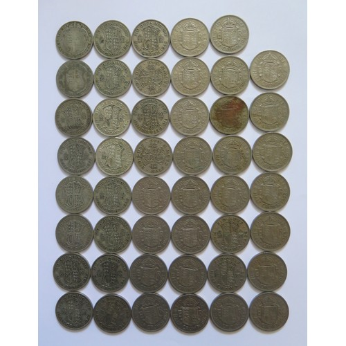 450 - A Collection of 1920-1966 Half Crown Coins
