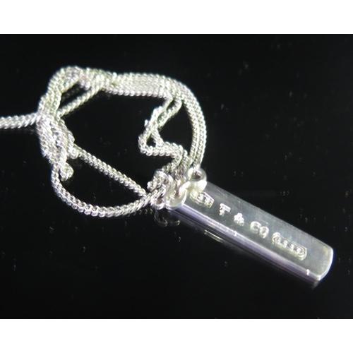 13 - A Silver Tiffany & Co. Pendant Necklace, 10g...