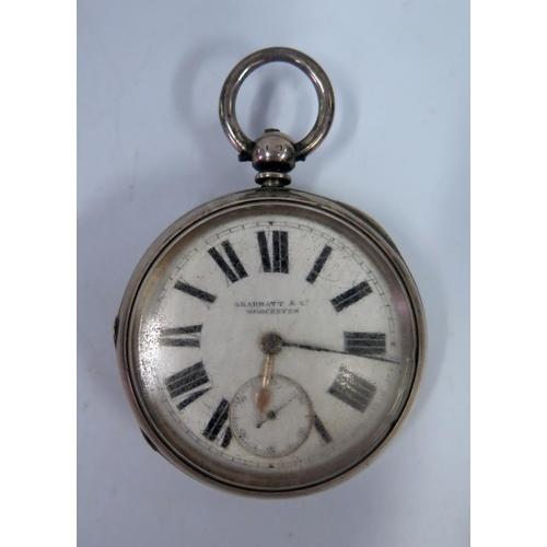 361 - A Skarratt & Co. of Worcester Key Wound Pocket Watch, Birmingham 1894, running...