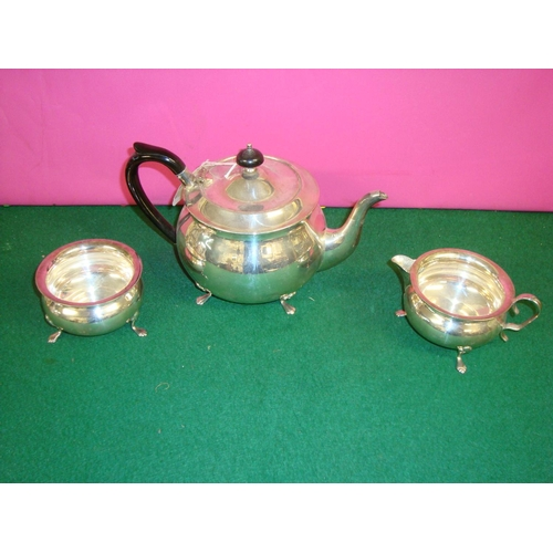 29 - Three Piece Silver Plate Tea Set...