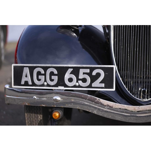 1 - 1937 FORD MODEL 'Y' SALOON MOTOR CAR, Registration AGG 652, 885cc, petrol, colour black This vehicle...