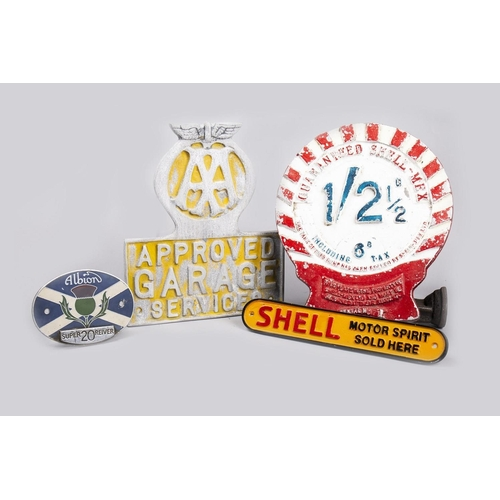 17 - AA, SHELL AND OTHER GARAGE SIGNS (4)...