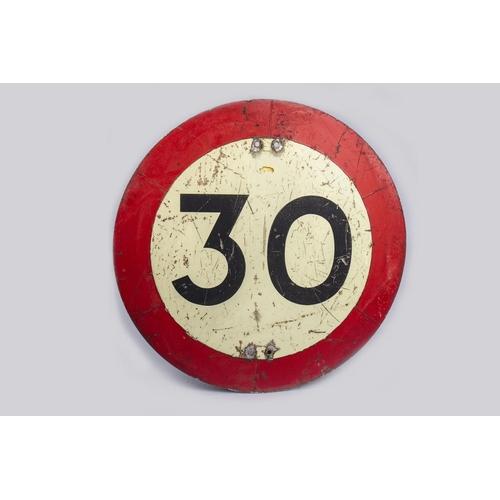 26 - 30 MPH SIGN...