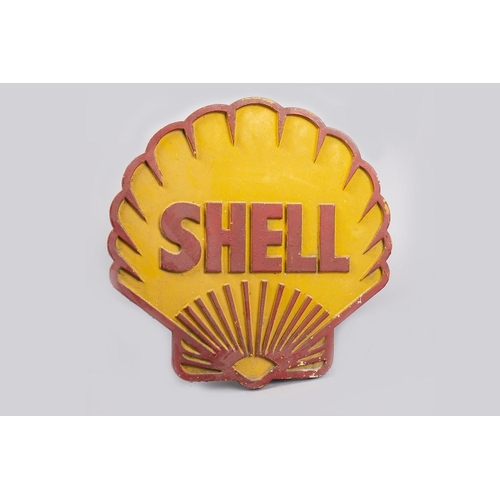 34 - SHELL CAST METAL SIGN...