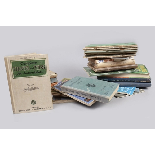 64 - LOT OF MOTORING TOURING MAPS, MANUALS AND BOOKS...