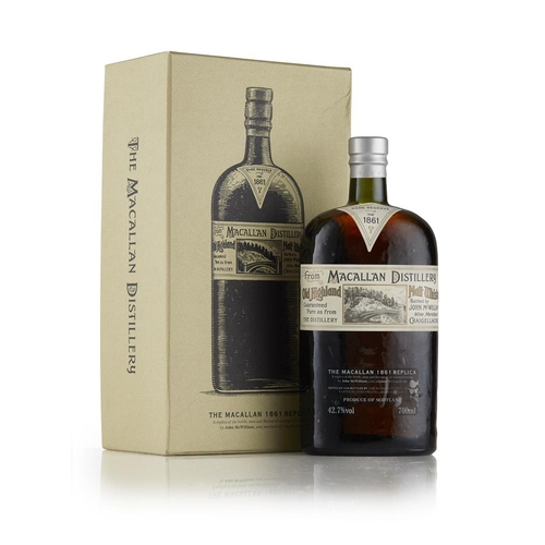 24 - THE MACALLAN 1861 REPLICA <br> <br>with presentation box <br> <br>70cl/ 42.7%...
