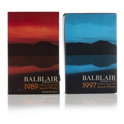 48 - BALBLAIR 1989 <br> <br>bottled in 2007, with carton, 70cl/ 43%; and a BALBLAIR 1997 19 YEAR OLD, bot...
